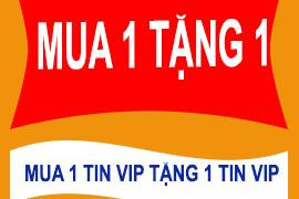 Mua ngay chờ chi Mua 1 TIN VIP tặng 1 TIN VIP