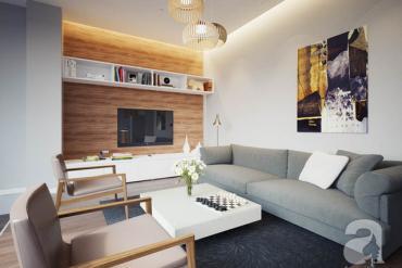 Thiết kế căn hộ 76m² cho gia đình 3 người với chi phí chỉ 150 triệu đồng